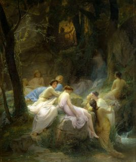 Nymphs Listening To The Songs of Orpheus by Charles Jalabert