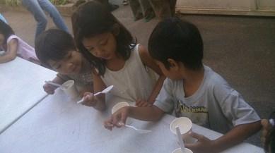 Gave free breakfast to neighborhood kids