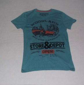 Blue Green Shirt with Graphics, Penshoppe