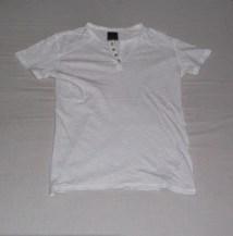 Short-Sleeved White Henley Shirt, Penshoppe