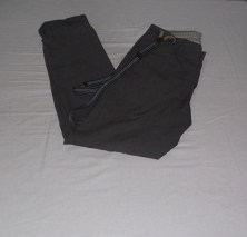 Grey Pants with Suspenders, H&M