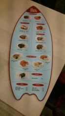 Surf's up for the menu!