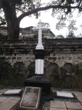 The marker for one of the GomBurZa priests' remains