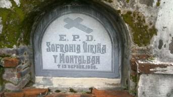 One grave marker bearing E.P.D.