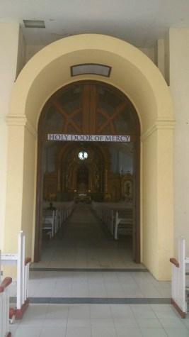 The main door of the church