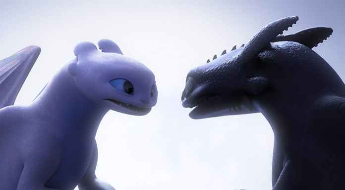How to Train Your Dragon The Hidden World Light Fury and Toothless