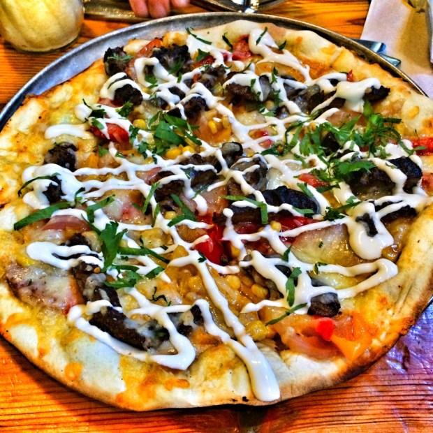 Grilled Skirt Steak Pizza