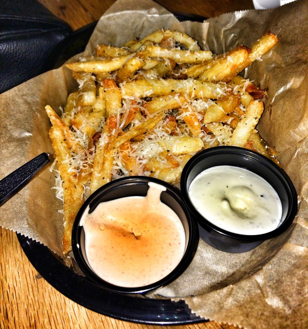 Garlic and Parmesan French Fries