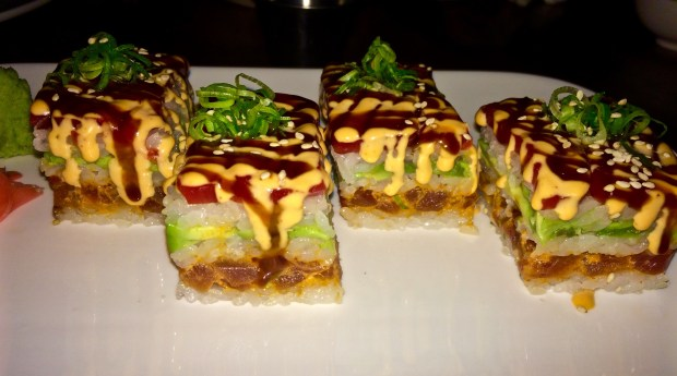 Spicy Tuna Roll, Battera Style