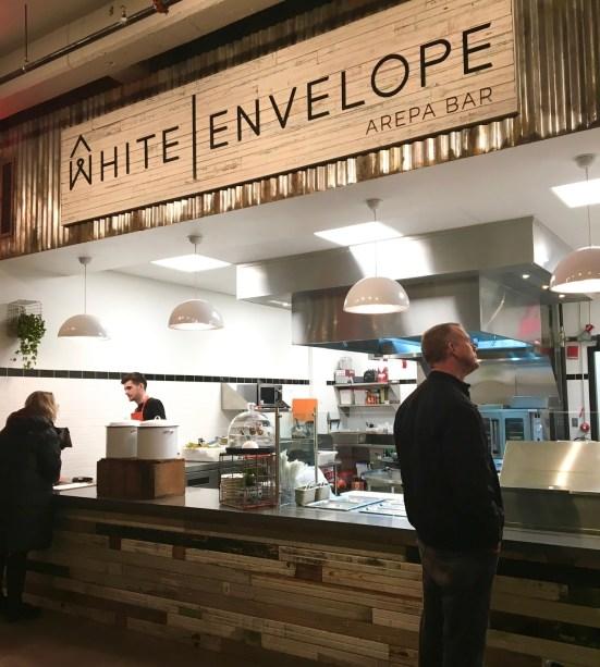 White Envelope Arepa Bar via Gluten Free and Dairy Free Blog
