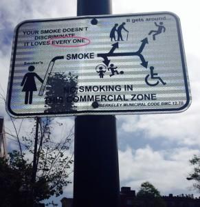 Sign on University Avenue, Berkeley, 2014.