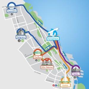 Aeroporto Aeroparque. Itinerario do ArBus. Foto do site oficial.