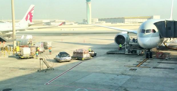 Dois aviões da Qatar Airways