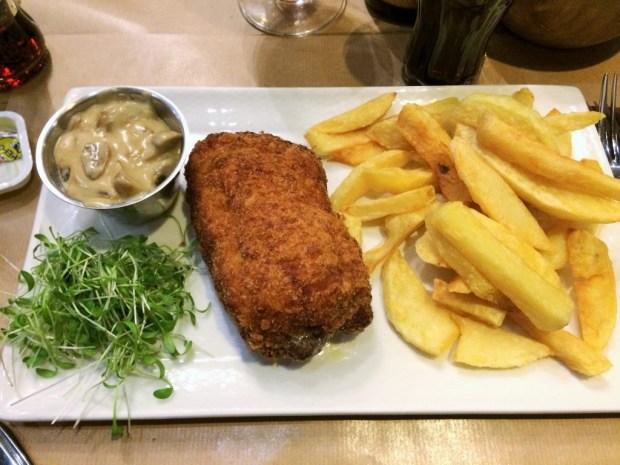 Onde comer em Bruxelas - cordon bleu