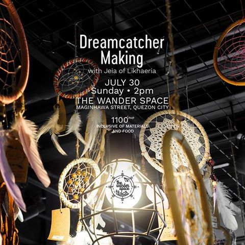 JULY 30, 2017 WORKSHOP – Dreamcatcher making