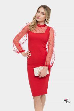 Червена рокля за бизнес дами