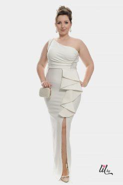Бяла стилна рокля