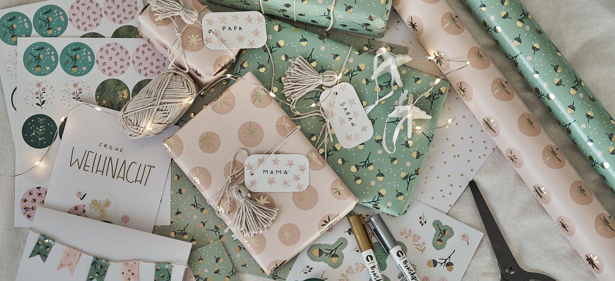DIY: Geschenke schön verpacken und individuelle Weihnachtskarten gestalten