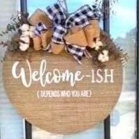 Welcome-ish Door Hanger