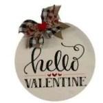 Hello Valentine Door Hanger