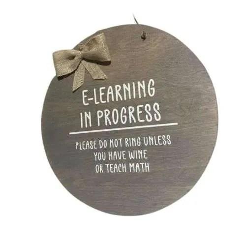 E-Learning In Progress Door Hanger