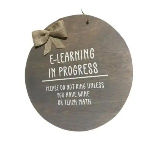 E-Learning In Progress Door Hanger