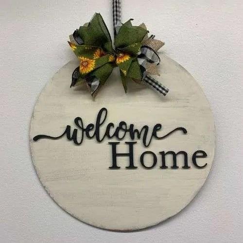 Welcome Home Door Hanger