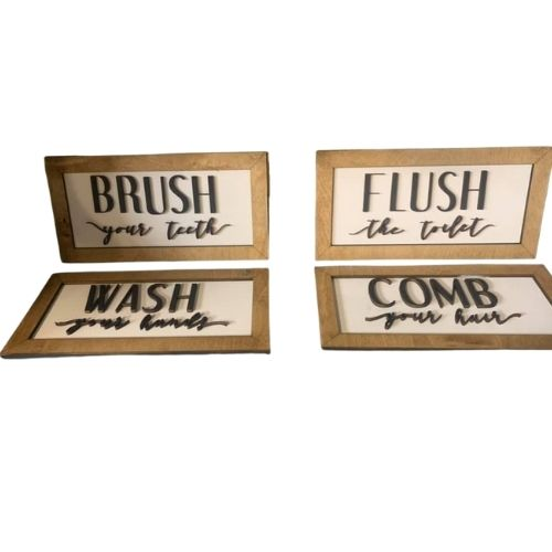 Set of Bathroom Quotes