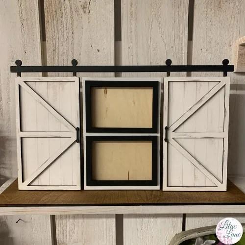 Double Barn Door Picture Frame