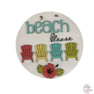Beach Please Door Hanger