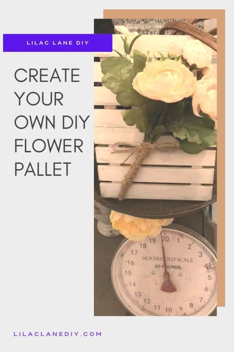 flower pallet by Lilac Lane DIY