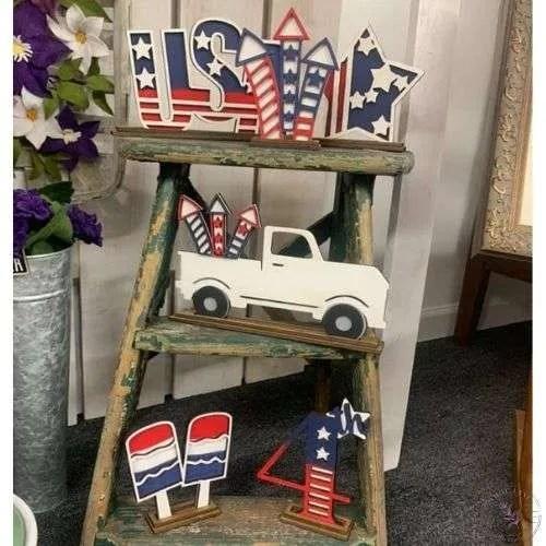 Patriotic Shelf Sitter Set