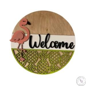 Flamingo Welcome Round