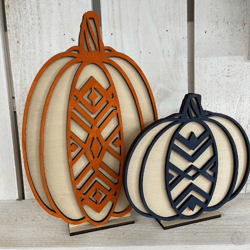 Layered Pumpkin Pair