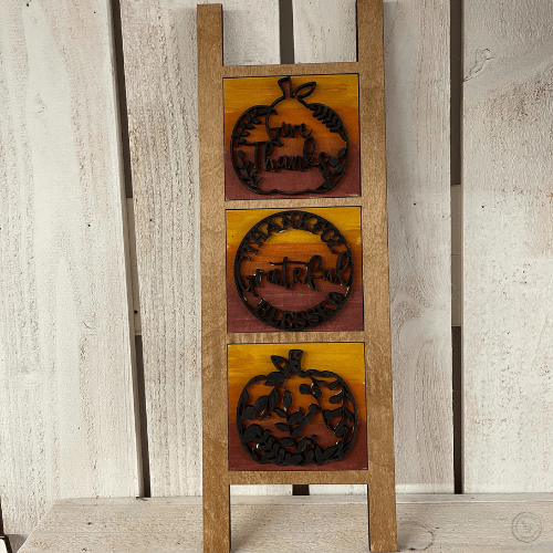 Fall Leaning Ladder Set
