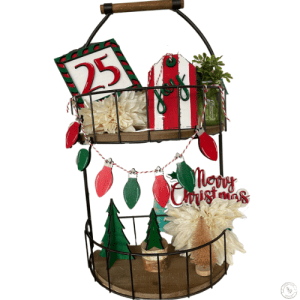 merry christmas tiered tray set
