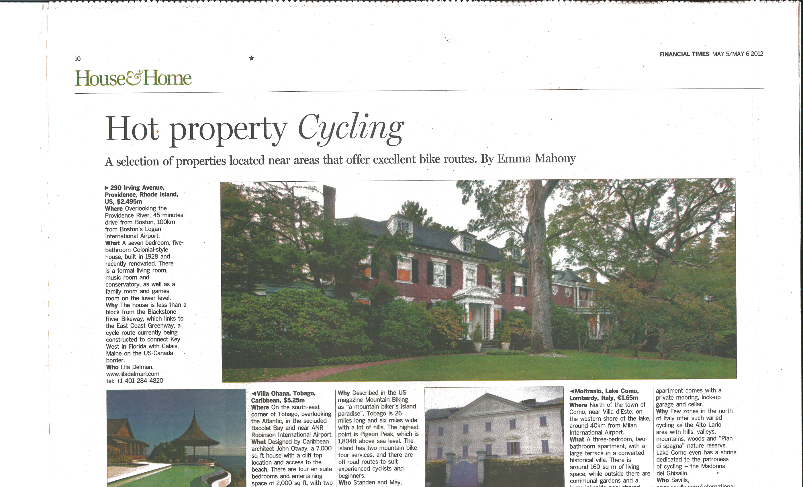 East Side Residence Featured in The Financial Times