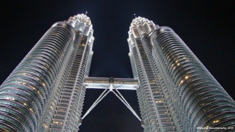 Petronas at night.