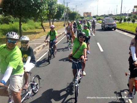 We ride in GREEN, for ride for cleaner air. Cheers!