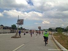 A basket ball court in the middle of the highway. Only in the Philippines.