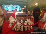 The remains of DILG Sec. Jesse Robredo.