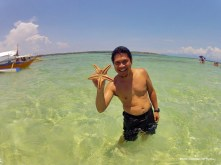 Be careful, we share the water with starfish.