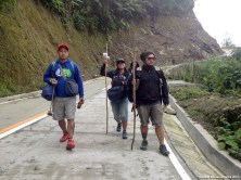 Walk down to Batad begins at the Saddle