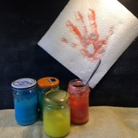 Diese Fingerfarbe kann man sogar essen, muss man aber nicht ;-) - oder - Fingerfarbe für die Kleinsten