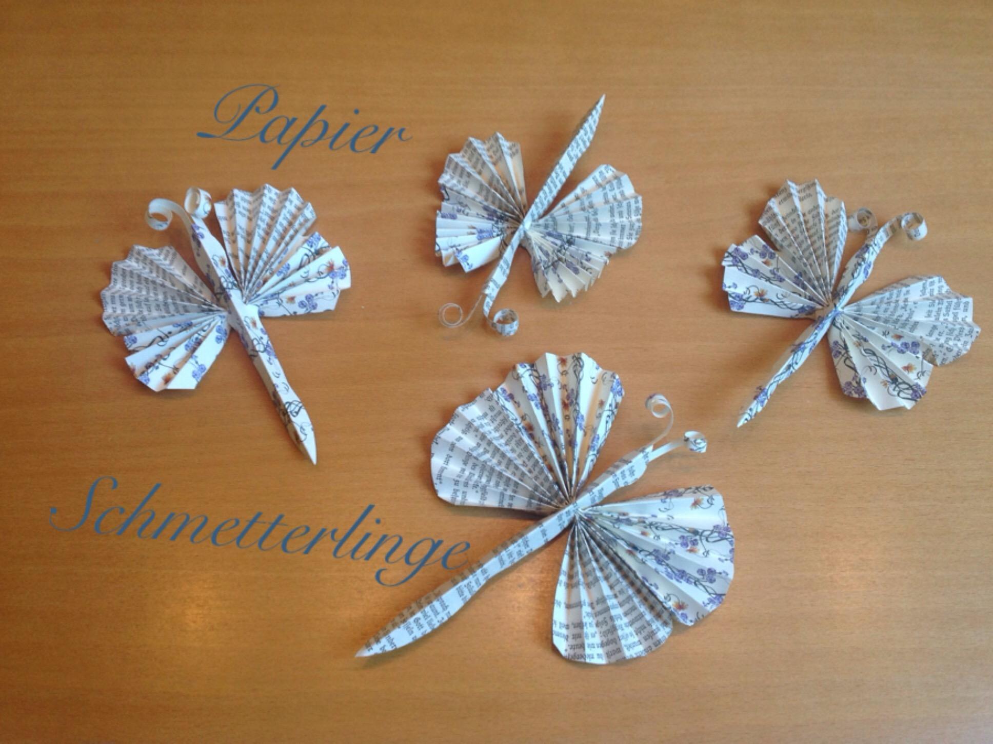Schmetterlinge aus Papier – oder – Zuwachs für zwei Schmetterlinge