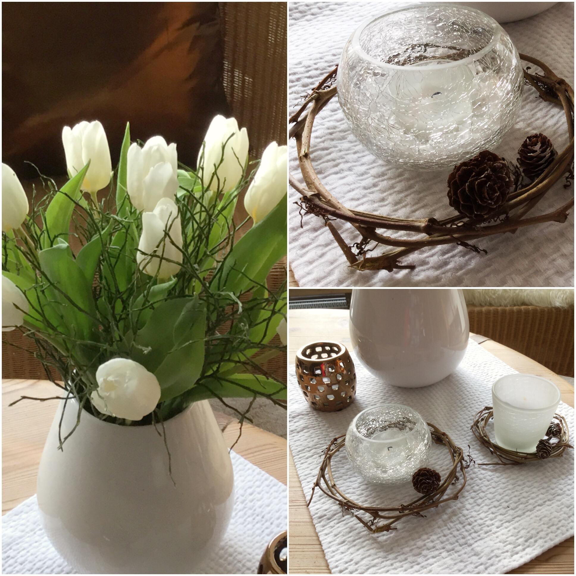 Friday-Flowerday – oder – Von Tulpen, Kerzen und Weidenkränzchen