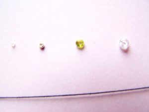 Beads for tatting lace