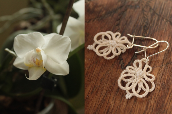 Boucles d'oreille orchidée