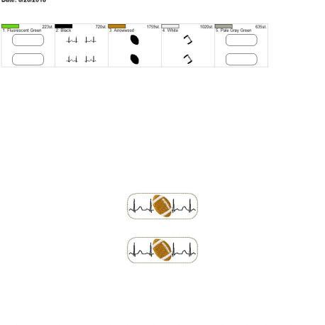 Football-EKG-Fob 4×4 grouped