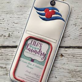ITH Mouse Cruise vertical ID holder/luggage tag – 5 x 7 – Embroidery Design – DIGITAL Embroidery design